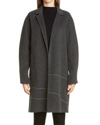 Lafayette 148 New York Crawley Embellished Cashmere Coat
