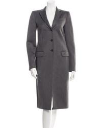 Dolce & Gabbana Dg Twill Wool Trench Coat
