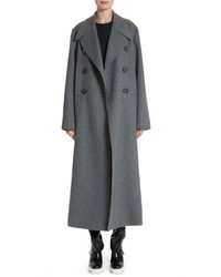 Stella McCartney Edwina Long Double Breasted Wool Blend Coat