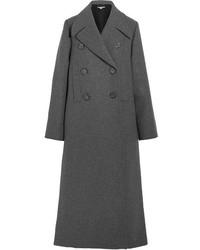 Stella McCartney Edwina Oversized Wool Blend Felt Coat Gray