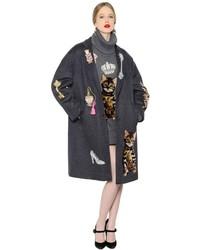 Dolce & Gabbana Embellished Wool Cashmere Coat