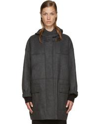 Etoile Isabel Marant Isabel Marant Etoile Grey Elton Caban Coat
