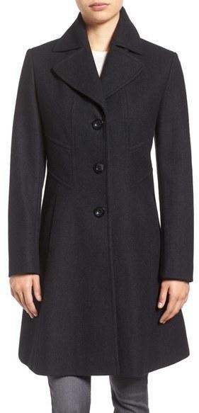 Larry Levine Fit Flare Coat