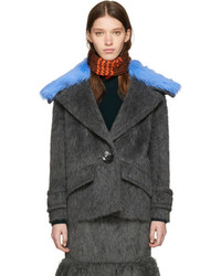 Prada Grey Alpaca Coat