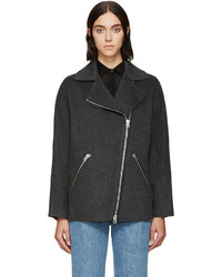 Acne Studios Grey Wool Envier Coat