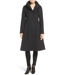 Vera Wang Isabella Skirted Wool Blend Coat