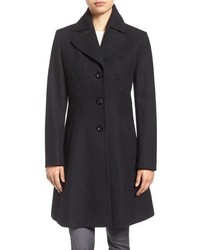 Larry Levine Fit Flare Coat