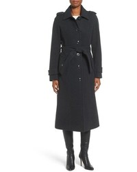 Mackage Dale F4 Long Charcoal Winter Wool Coat With