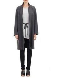 Mm6 Maison Margiela Melange Brushed Melton Coat Grey