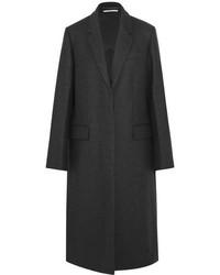 Stella McCartney Oversized Split Side Wool Coat Charcoal