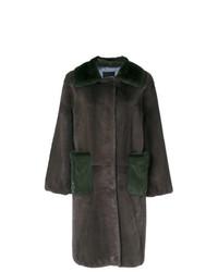 Liska Oversized Two Tone Coat