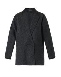 Rag and Bone Rag Bone Primrose Wool And Leather Coat