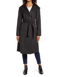 Kenneth Cole New York Shawl Collar Wool Blend Wrap Coat