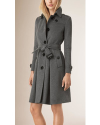 Burberry Skirted Wool Cashmere Coat