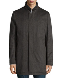 Neiman Marcus Solferino Cashmere Coat Charcoal