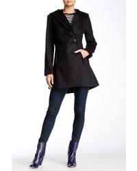 Trina Trina Turk Ameila Hooded Wool Blend Coat