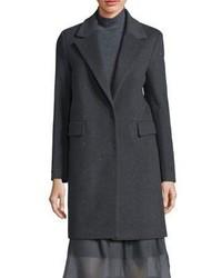 Peserico Virgin Wool Cashmere Blend Long Sleeve Coat
