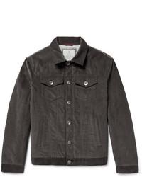 Charcoal Corduroy Barn Jacket