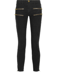 The multi zip stiletto corduroy skinny jeans medium 16360