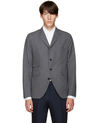 Thom Browne Grey Cotton 5 Button Blazer