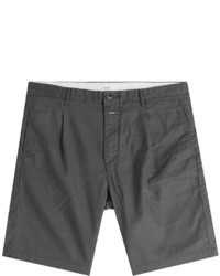 Closed Pleated Linen Cotton Shorts