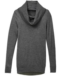 Charcoal Cowl-neck Sweater