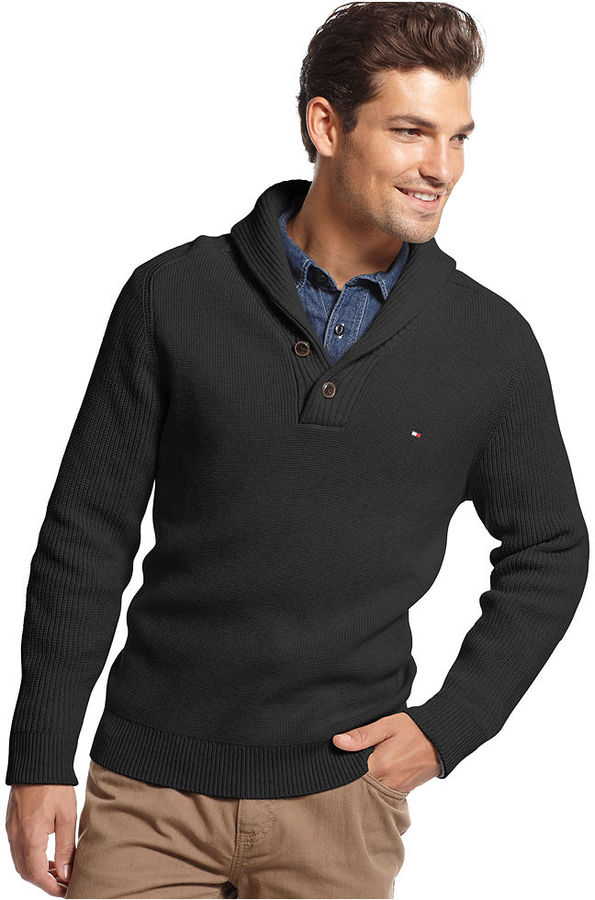 Tommy Hilfiger Adler Shawl Collar Sweater | Where to buy & how to wear
