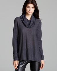 Sweater draped cowl wool cashmere medium 155905