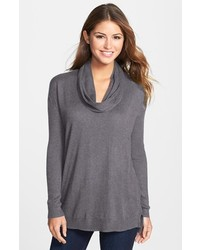 Vince Camuto Ribbed Sleeve Cowl Neck Sweater