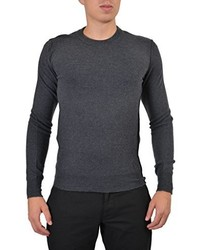Dolce & Gabbana 100% Wool Gray Knitted Distressed Sweater