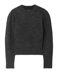 Isabel Marant Belaya Cropped Wool Sweater