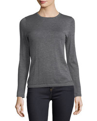 Cashmere collection modern superfine cashmere crewneck sweater medium 4948550