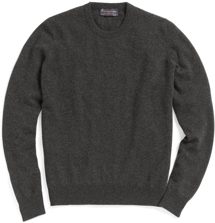 Brooks Brothers Cashmere Crewneck Sweater Basic Colors | Where to ...