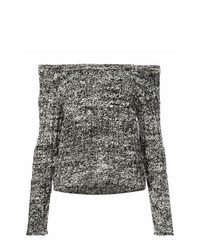 The Elder Statesman Cashmere Off Shoulder Sweater