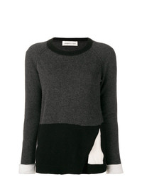 Lamberto Losani Colour Block Fitted Sweater
