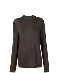 Rick Owens Cut Out Detailed Jumper