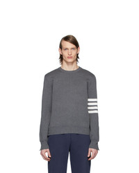 Thom Browne Grey 4 Bar Milano Stitch Sweater