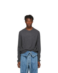 Wooyoungmi Grey Cashmere Crewneck Sweater