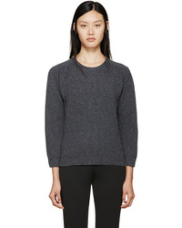 Jil Sander Grey Crewneck Sweater
