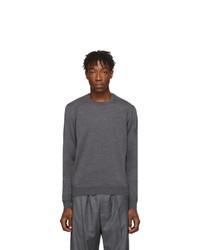 Balenciaga Grey Fine Wool Sweater
