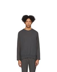 Issey Miyake Men Grey Knit Sweater