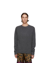 Dries Van Noten Grey Merino And Cashmere Sweater