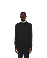 Z Zegna Grey Merino Mock Neck Sweater