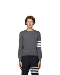 Thom Browne Grey Milano Stitch 4 Bar Sweater