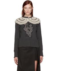 Marc Jacobs Grey Varsity Sweater
