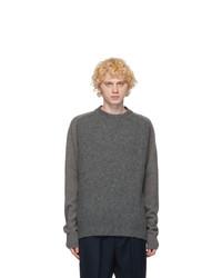 Jil Sander Grey Wool Panelled Sweater