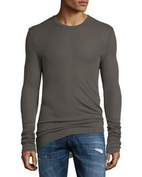 Hudson Long Sleeve Ribbed Crewneck Shirt