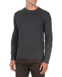 Isaia Melange Jersey Long Sleeve T Shirt