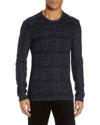 John Varvatos Star USA Mix Stitch Regular Fit Cotton Blend Sweater