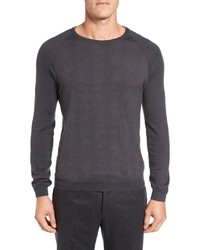 Pal Zileri Neat Dot Merino Wool Crewneck Sweater